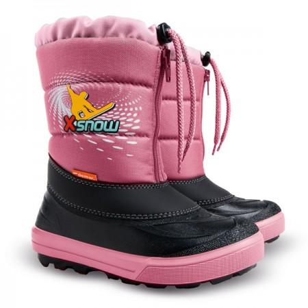 17ac9260cf10a Detské snehule Demar - Kenny ružové. naša cena 22,50 EUR. skladom. Detské  zimné kožené topánky Ponté DA03-1-63L chocolate