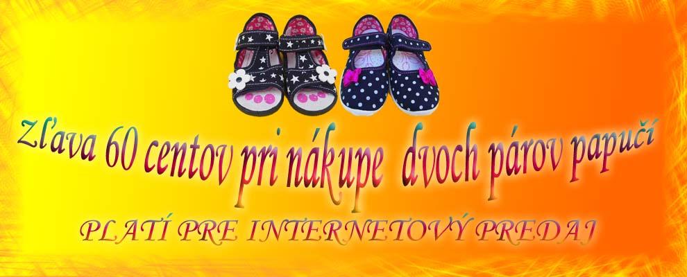 d763e88a8033 Detské papučky-prezuvky do školy a škôlky - detská obuv
